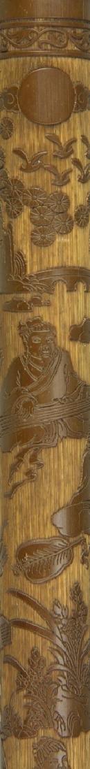 Chinese Carved Bamboo Brush Tube - 3