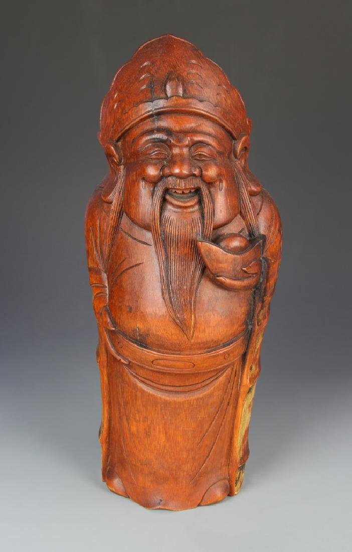 Chinese Carved Bamboo Figure