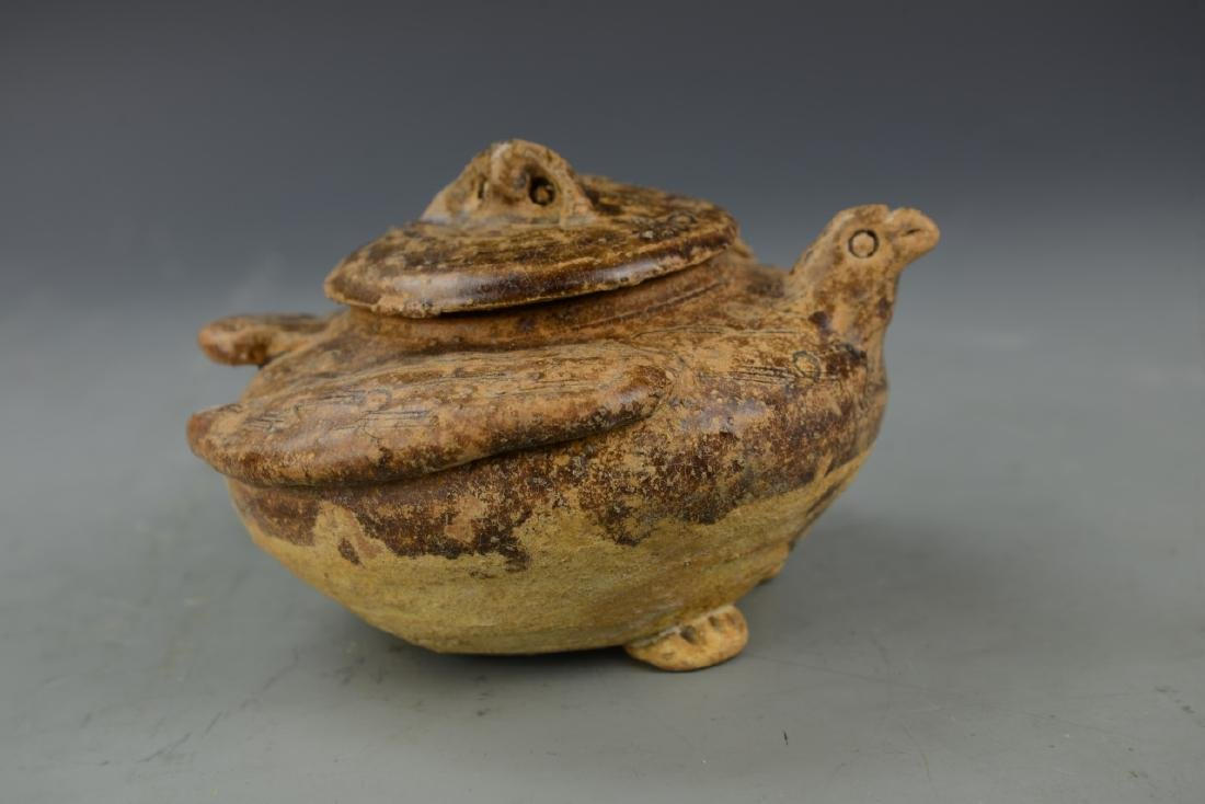 Chinese Antique Hutian Yao Jar with Cover - 3