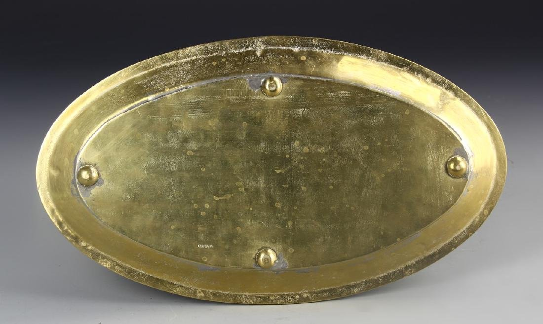 Thailand Brass Oval Plate - 2
