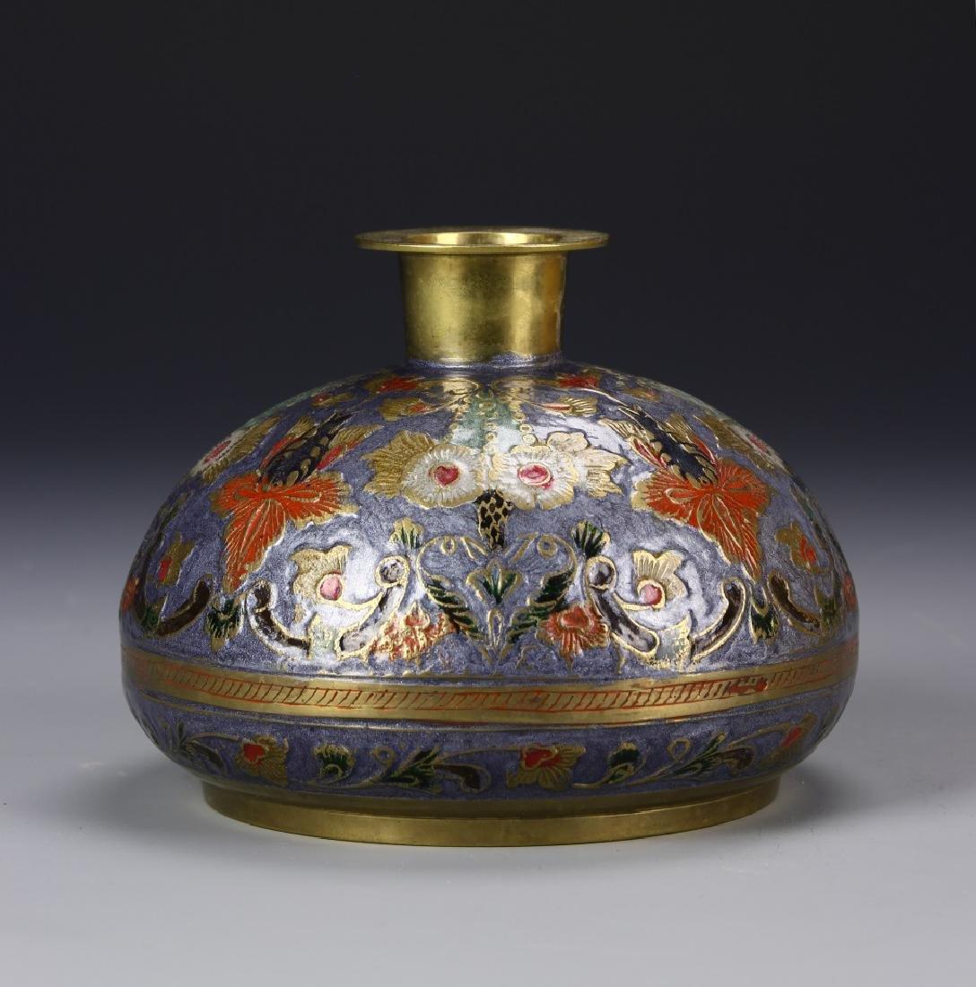 Chinese Enameled Vase - 2