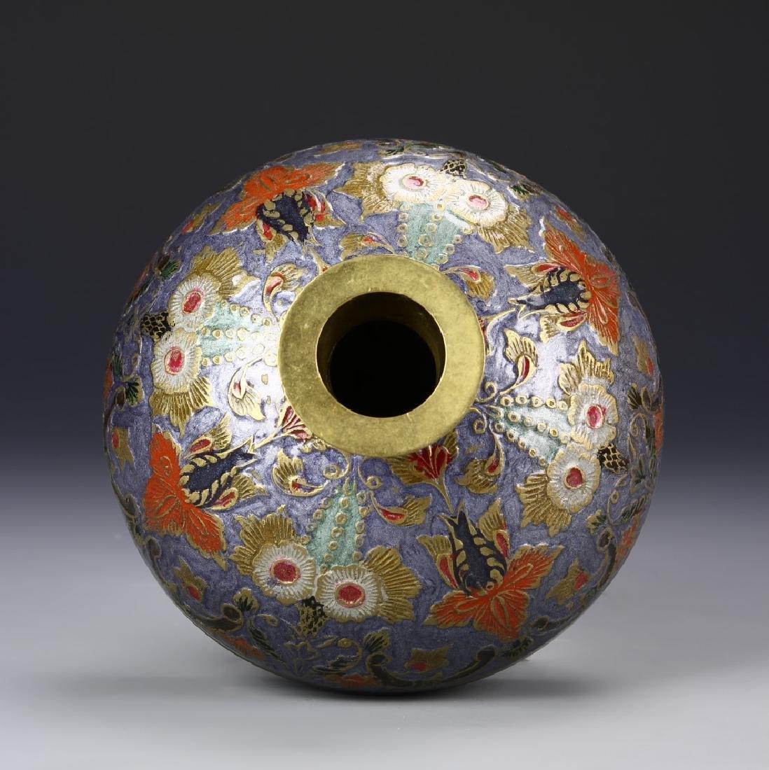 Chinese Enameled Vase - 3