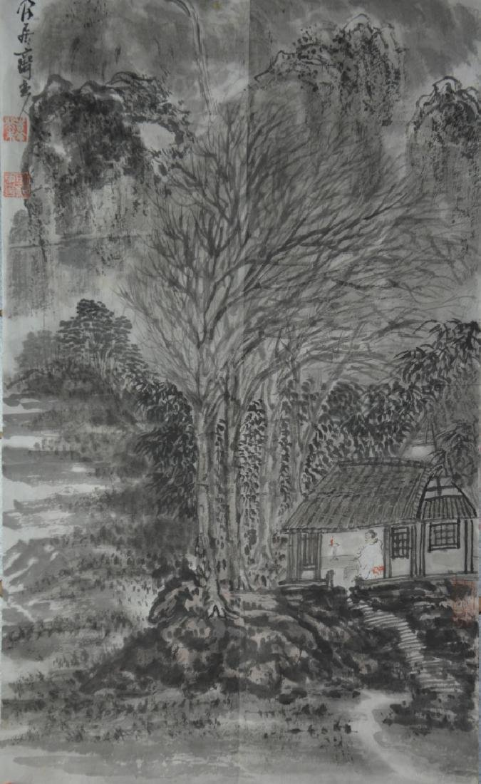 Two Chinese Scroll Painting