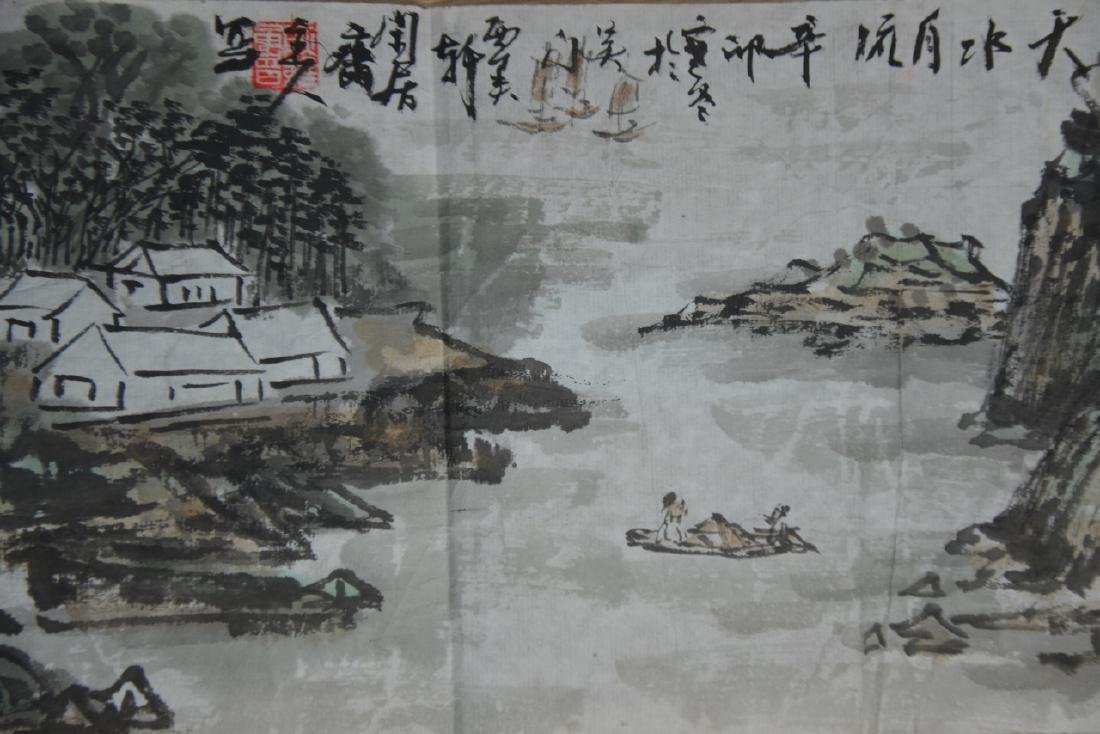 Two Chinese Scroll Painting - 4