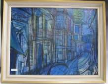 Framed Oil Painting Street Scene