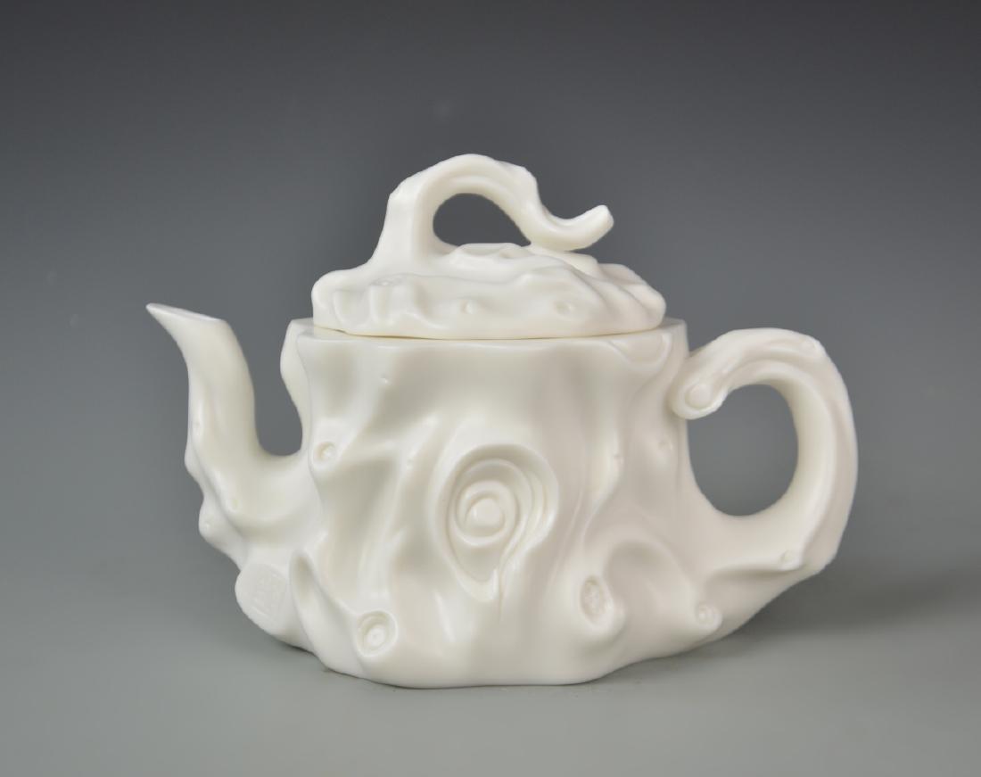Chinese Blanc de Chine Teapot