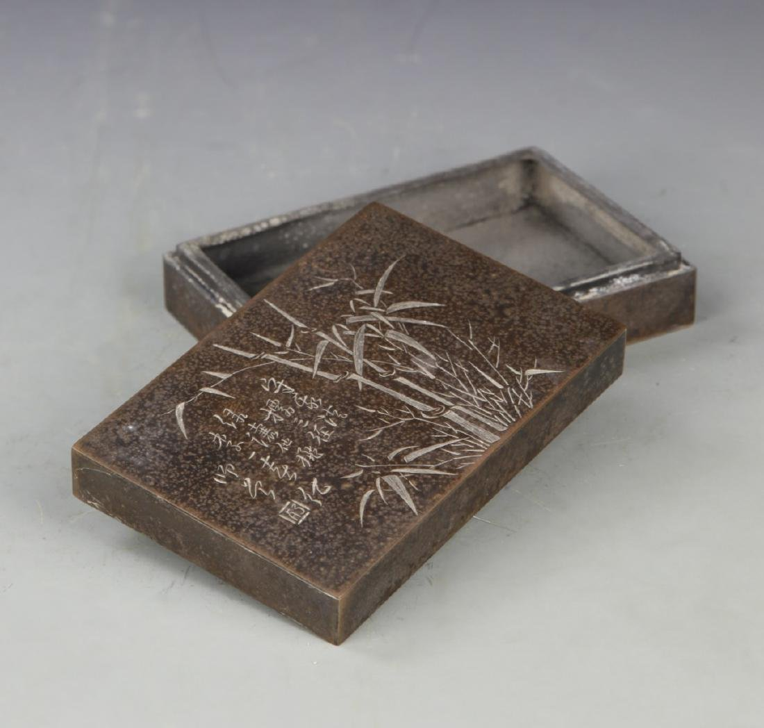 Chinese Bronze Ink Box - 2