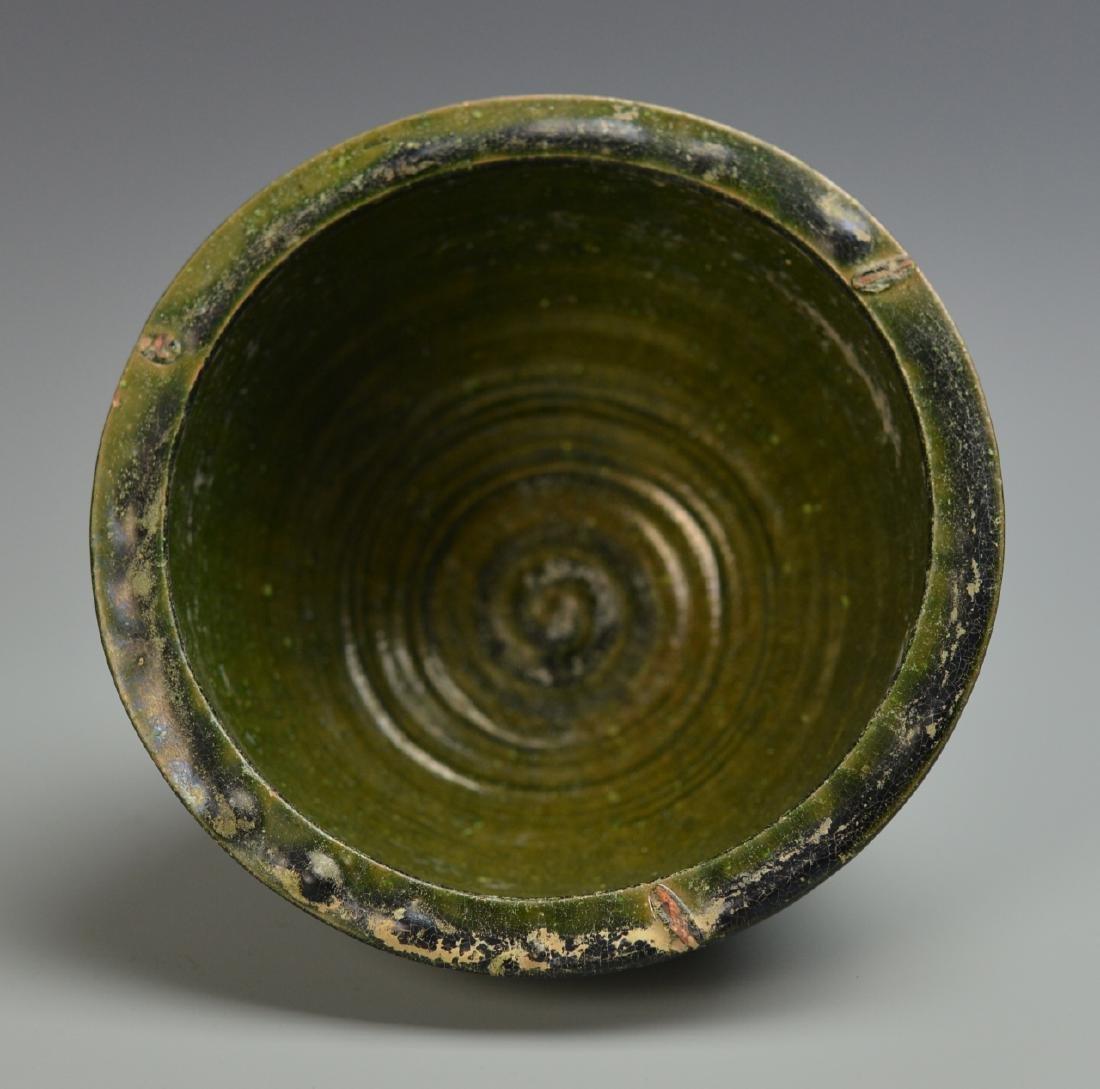 Three Chinese Green Glazed Items - 4