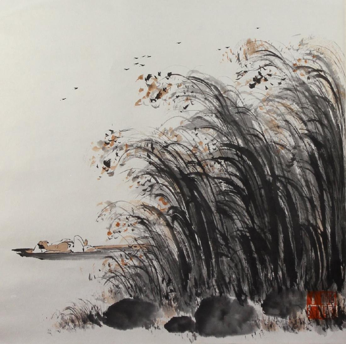 Chinese Scroll Painting, Attributed to Ya Ming - 3