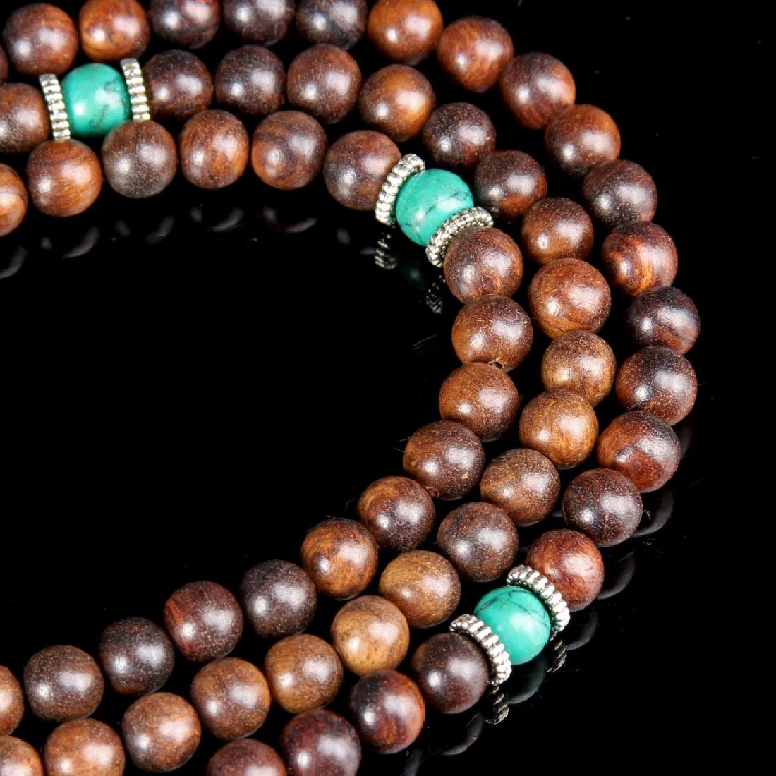 Chinese Wood Beaded Necklace - 2