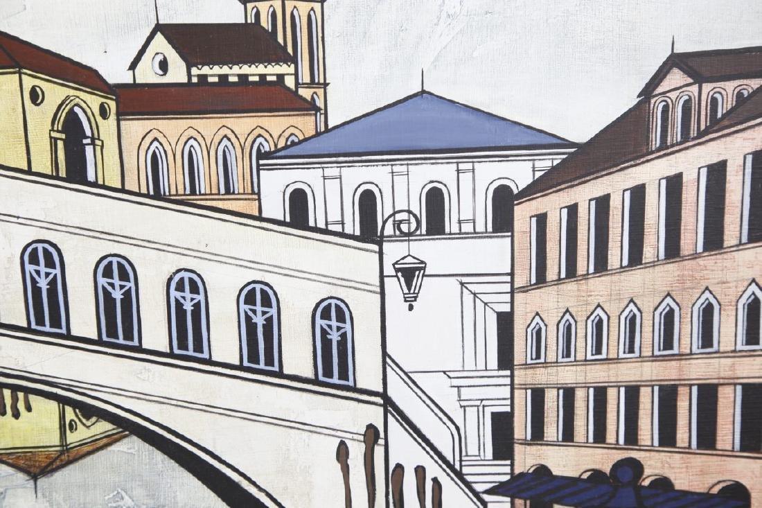Oil On Canvas of Venice Street Scenes - 4