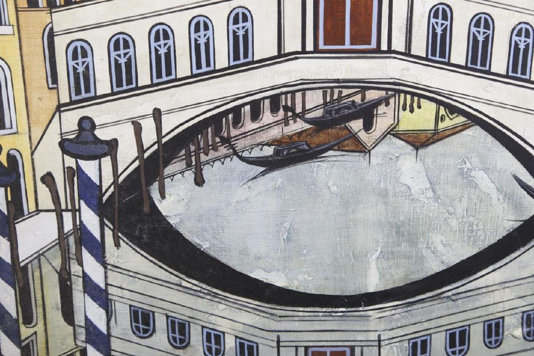 Oil On Canvas of Venice Street Scenes - 5