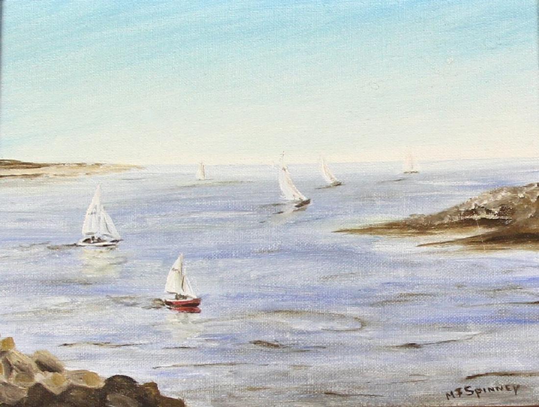 Oil Painting of Shore Scene