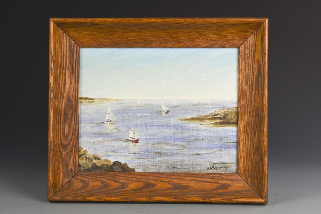 Oil Painting of Shore Scene - 2