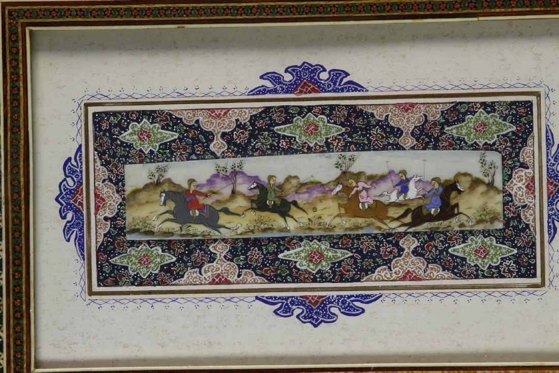 Framed Persian Miniature Painting - 2