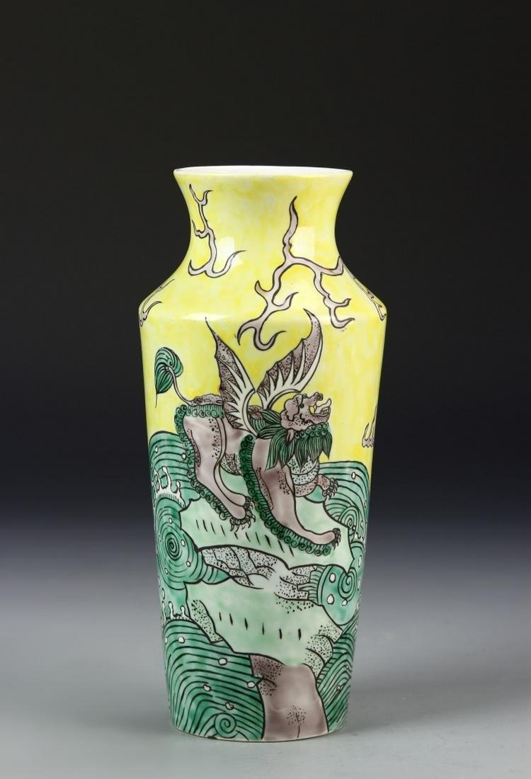 Chinese Antique Sancai Vase