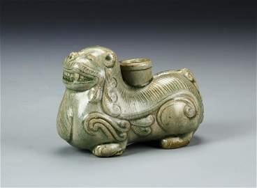 Chinese Celadon Foo Lion