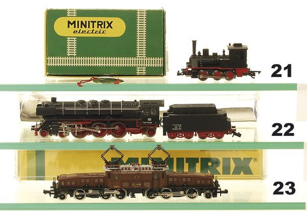 21: 1 MINITRIX Dampflok 2914, T 3