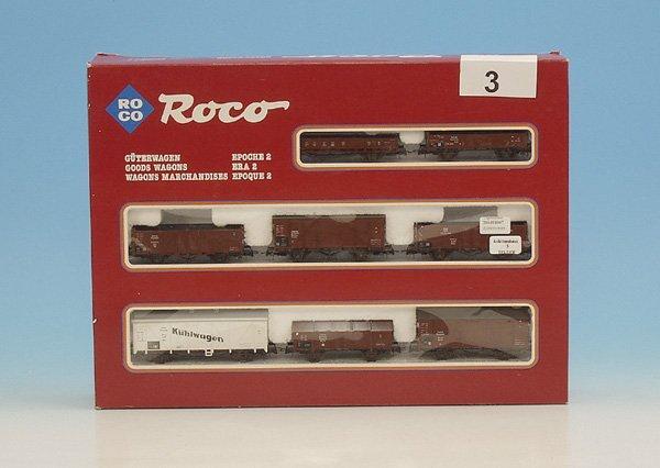 3: 1 ROCO Güterwagen Set, Epoche 2
