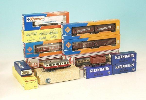 4: Konvolut Güter- und Personenwagen