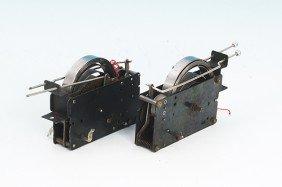 1223: 2 FLEISCHMANN Uhrwerkmotoren, Spur 0