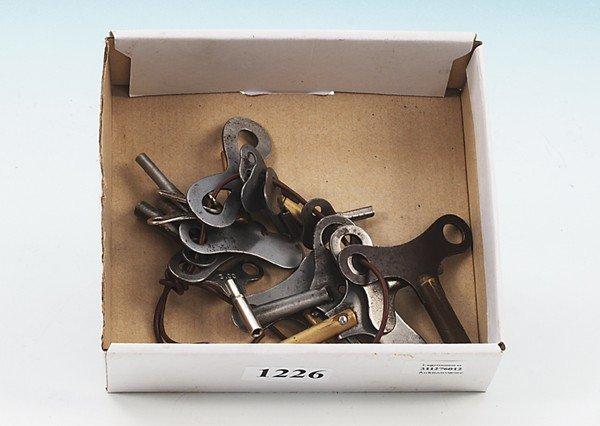 1226: Konvolut Uhrwerkschlüssel