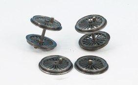 1228: 6 Fine Scale Räder, Loks Spur 0