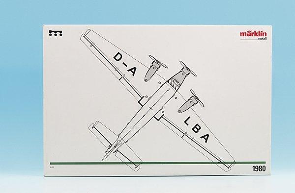 """2458: MÄRKLIN Flugzeug 1980 """"JU 52"""""""