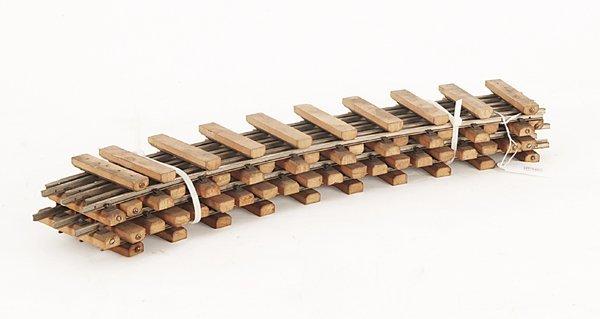 3011: 6 Eigenbau-Gleise, gebogen