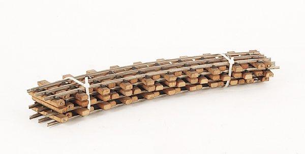3012: 6 Eigenbau-Gleise, gebogen