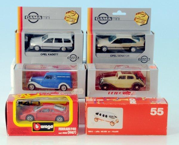 6 Miniatur-Autos