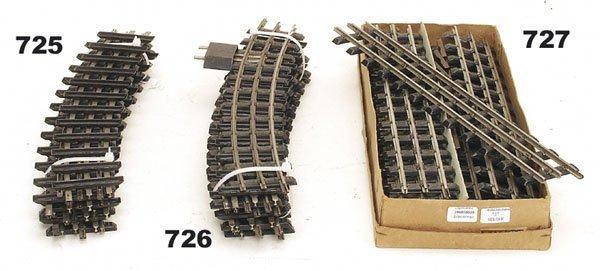 727: 10 MARKLIN Modellgleise 3630 D 1/1, Spur 0