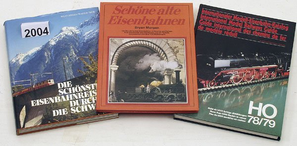 2004: 1 Konvolut Eisenbahnliteratur