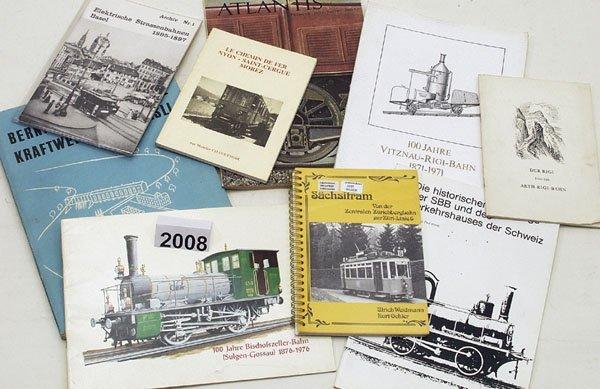 2008: 1 Konvolut schweizer Eisenbahnliteratur
