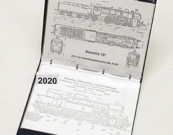 2020: 1 UEbersichtsmappe mit UEbersichtszeichnungen