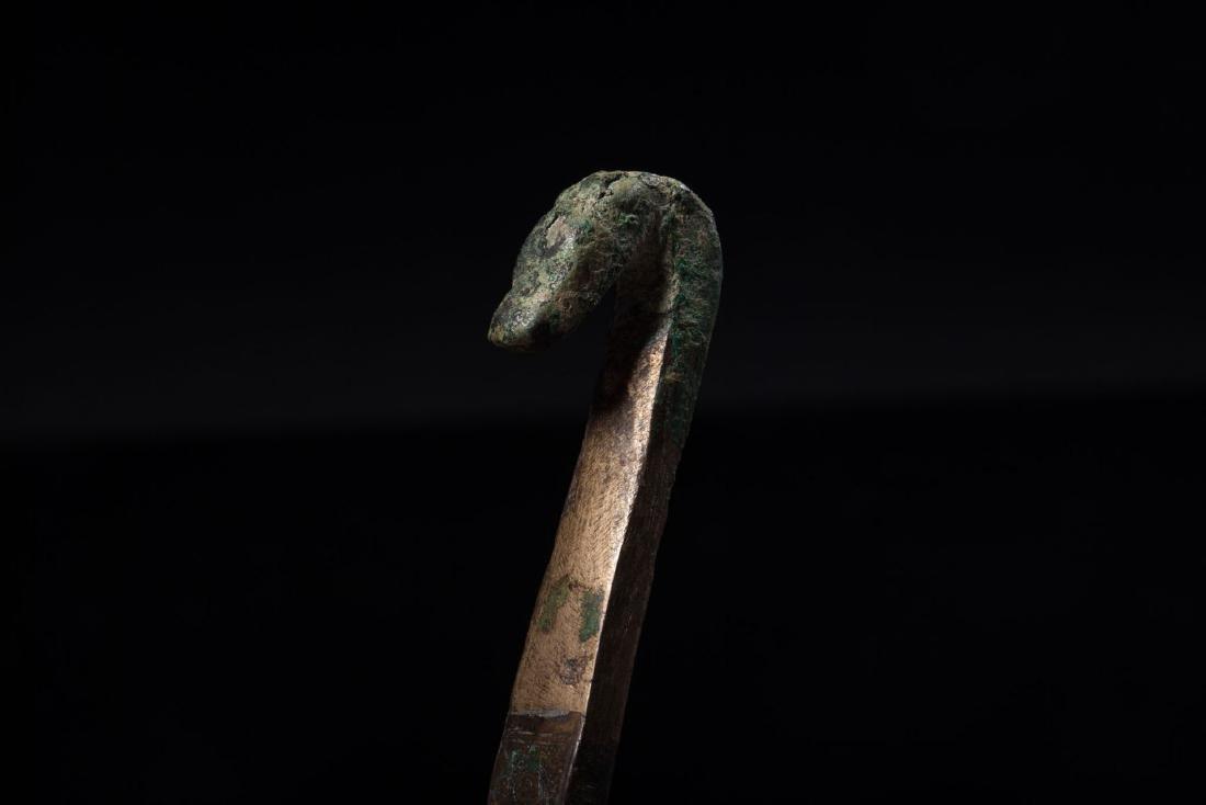 A Bronze Belt Hooks - 10