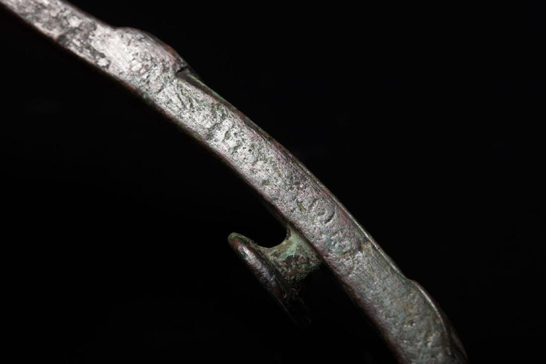 A Bronze Belt Hooks - 4