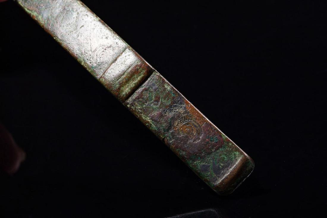 A Bronze Belt Hooks - 7