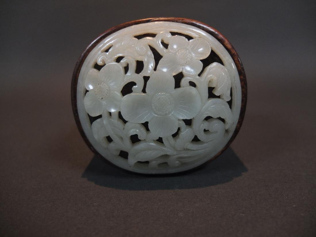 A Jade and Silver Inlaid Wooden Box - 2