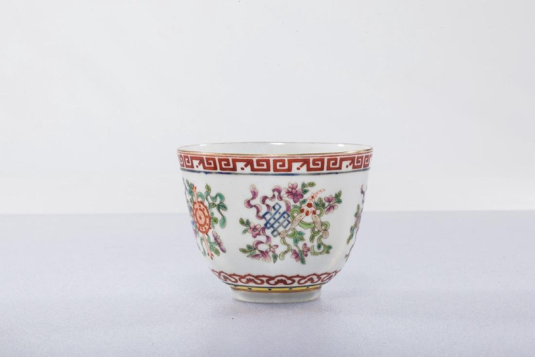 A Chinese Famille Rose Porcelain Cup