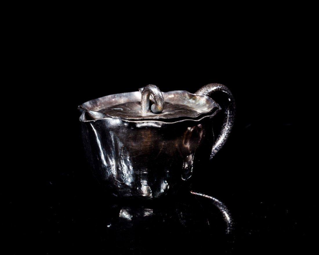 A Japanese Silver Teapot signed Nakagawa Joeki
