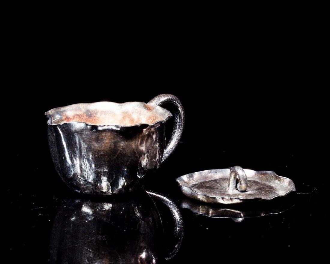 A Japanese Silver Teapot signed Nakagawa Joeki - 2