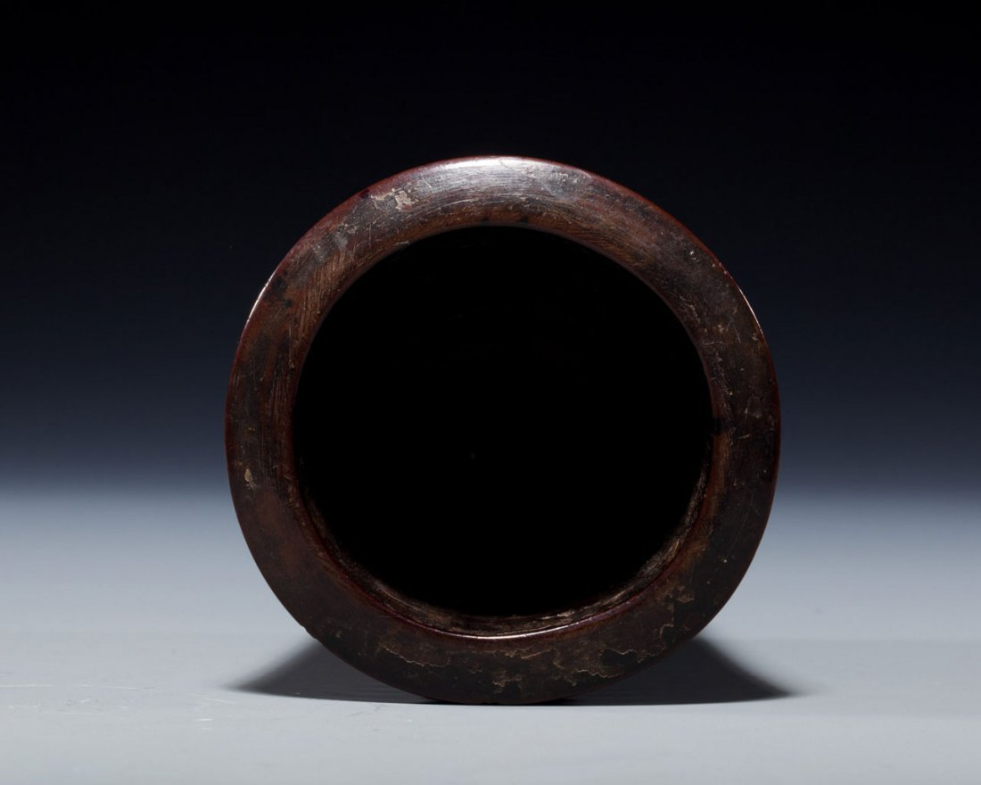 A Chinese Nanmu Incense Container - 3