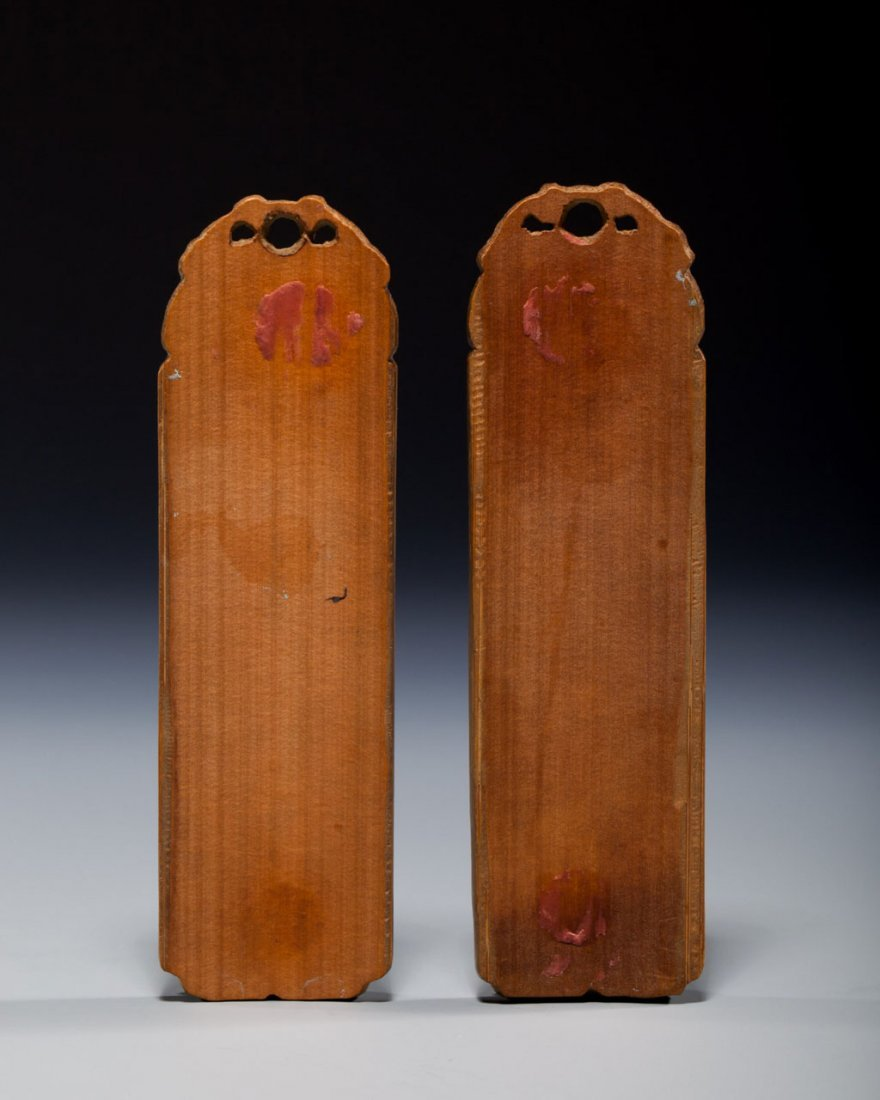 Two Chinese Bamboo Decorated Plaques - 2