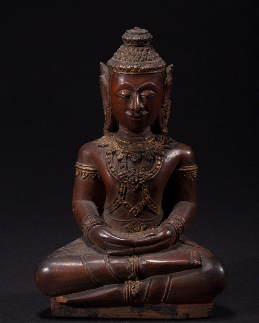 A Thai Wooden Buddha