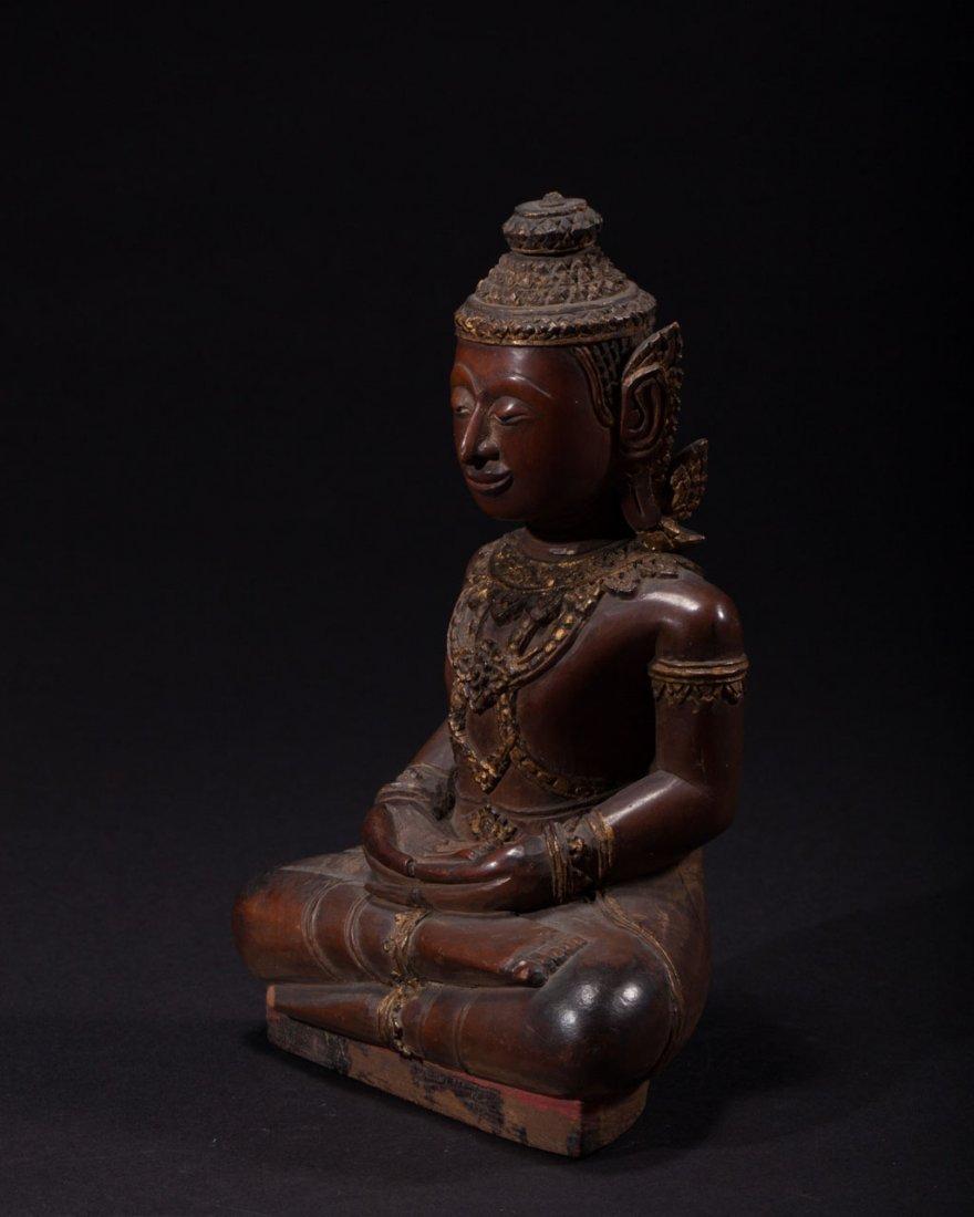 A Thai Wooden Buddha - 2