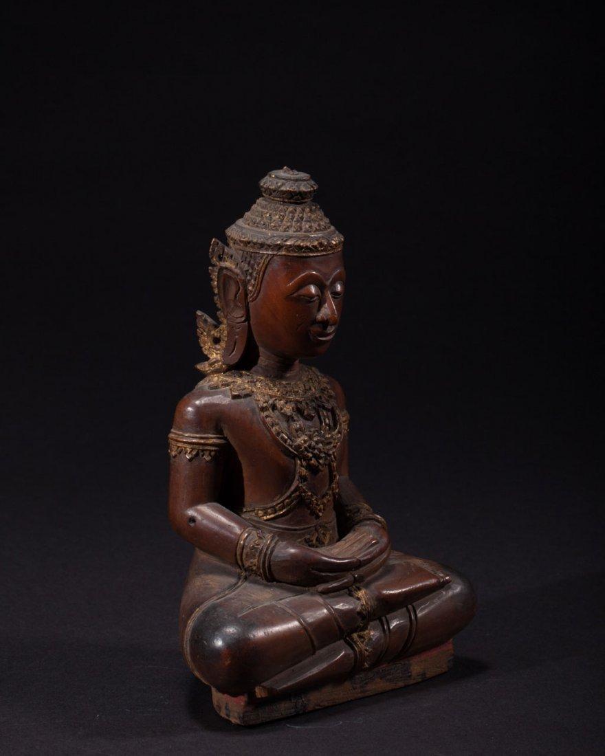 A Thai Wooden Buddha - 3