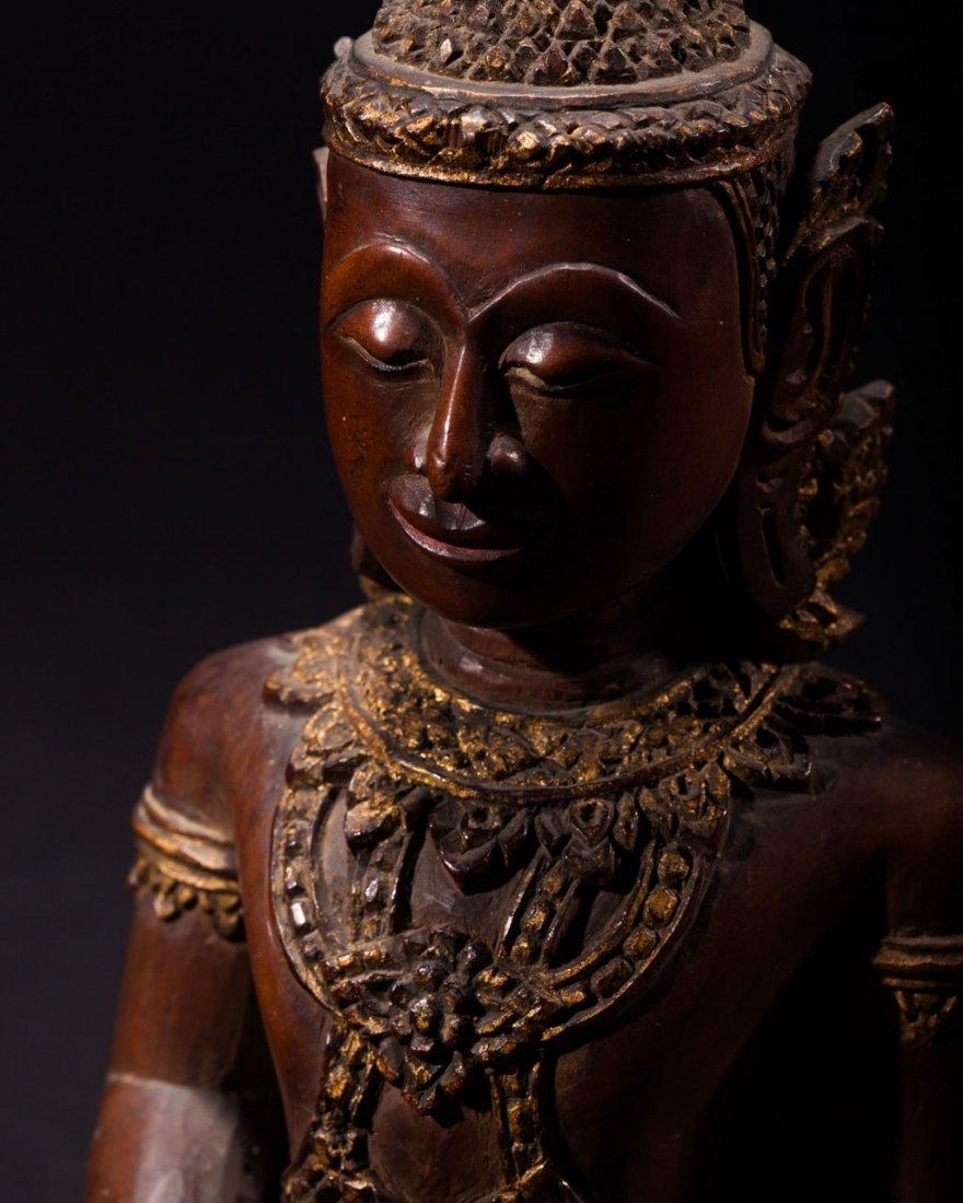 A Thai Wooden Buddha - 5