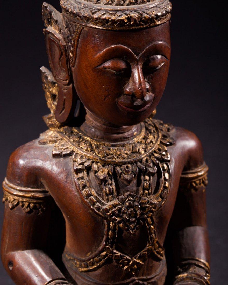 A Thai Wooden Buddha - 6