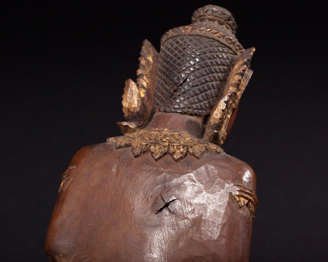 A Thai Wooden Buddha - 7